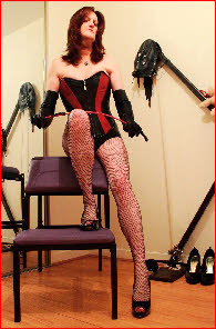 TS dominatrix for spanking and bondage in Glasgow