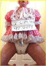 Sissy baby Candy in nappies