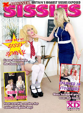 First day at sissy school for cute transvestite in issue 3 of X-DRESSER SISSIES