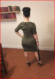 Strict disciplinarian Miss Theda Brooks