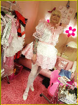 Full pink princess transformation for sissy Angela